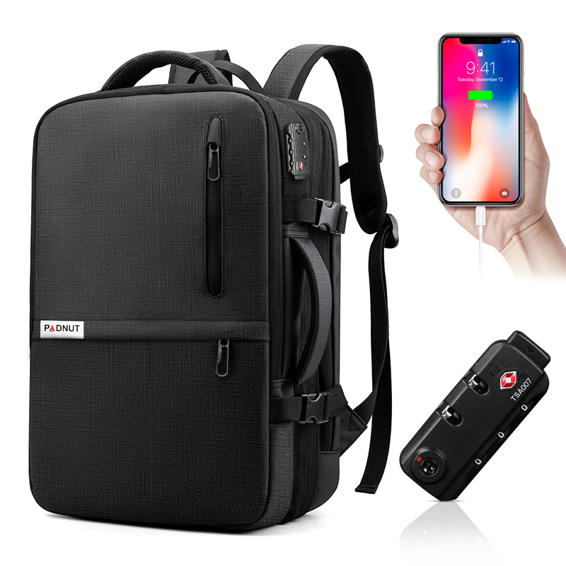 Anti Theft Laptop Backpack Men 17 Inch Notebook Bagpack Travel Business Large Backpacks Male Bag USB Charger School Bags For Man