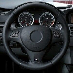 Image 3 - רכב הגה כיסוי שחור עור מלאכותי עבור BMW M ספורט M3 E90 E91 (סיור) e92 E93 E87 E81 E82 (קופה) E88 X1 E84