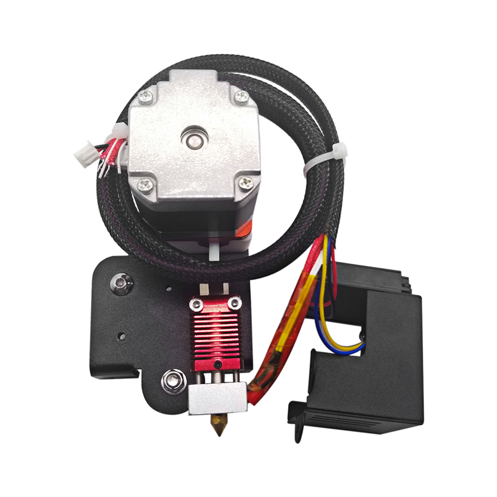 1.75mm//3.0mm Fialment 0.4mm Nozzle Upgraded Dual Head Extruder Kit for 3D