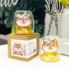 RUIDA Handmade Creative Shiba Inu Cup Lemon Mug Cat Milk Breakfast Cups Cocktail Diamond Glass Personality Drinkware