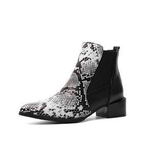 Image 4 - MORAZORA 2020 ใหม่มาถึงผู้หญิงข้อเท้างูชี้ Toe รองเท้าส้นสูงรองเท้าฤดูใบไม้ร่วงฤดูหนาวรองเท้าเชลซีหญิง
