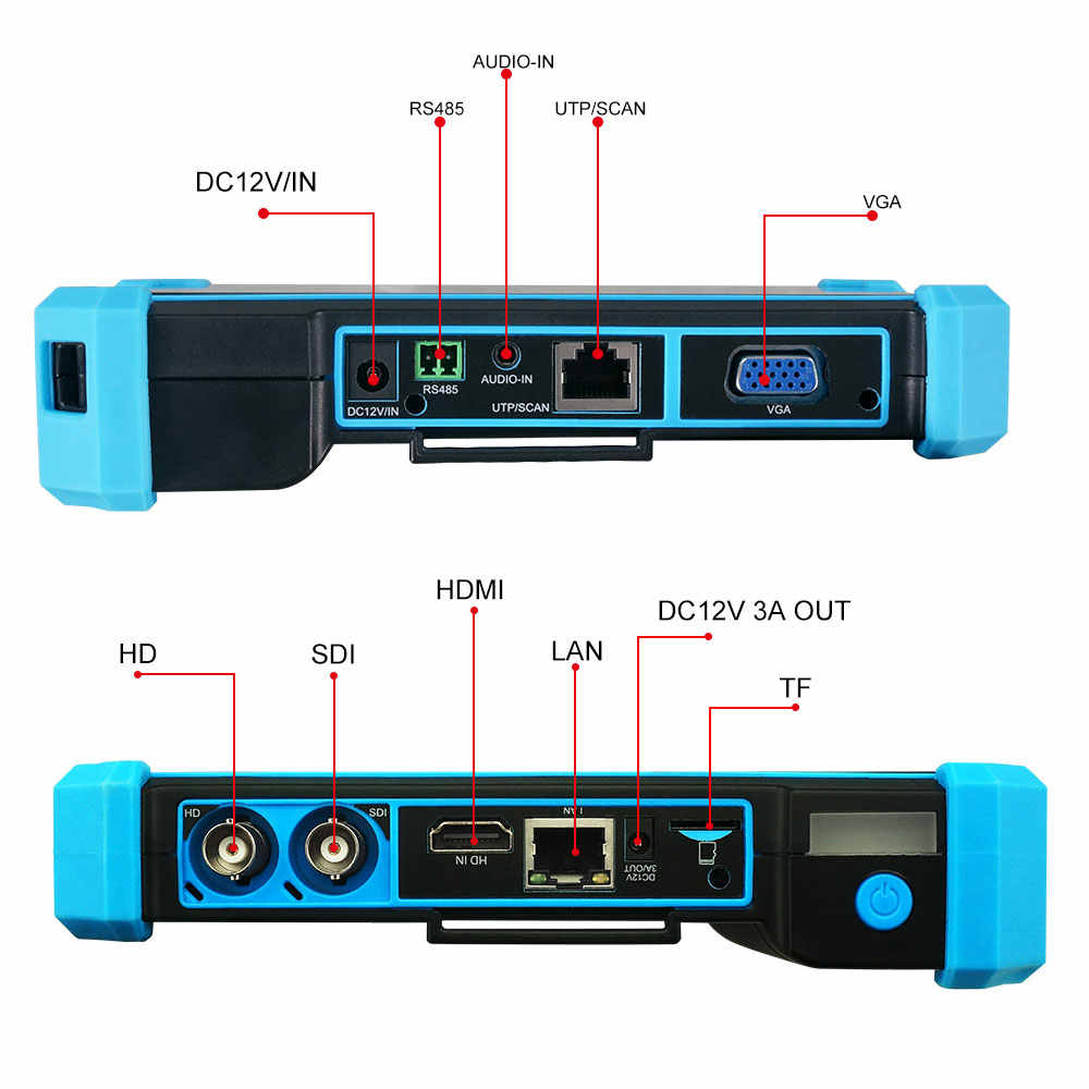 Pegatah 8MP HDMI VGA المدخلات CCTV تستر شاشة كاميرا مراقبة للكاميرا Ip فاحص الكاميرا IPC تستر poe اختبار كاميرا كاميرا تلفزيونات الدوائر المغلقة فاحص الكاميرا