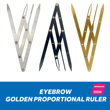 Stainless steel Golden Ratio CALIPERS Microblading Permanent Makeup Eyebrow Measure Tool Mean Golden Eyebrow DIVIDER