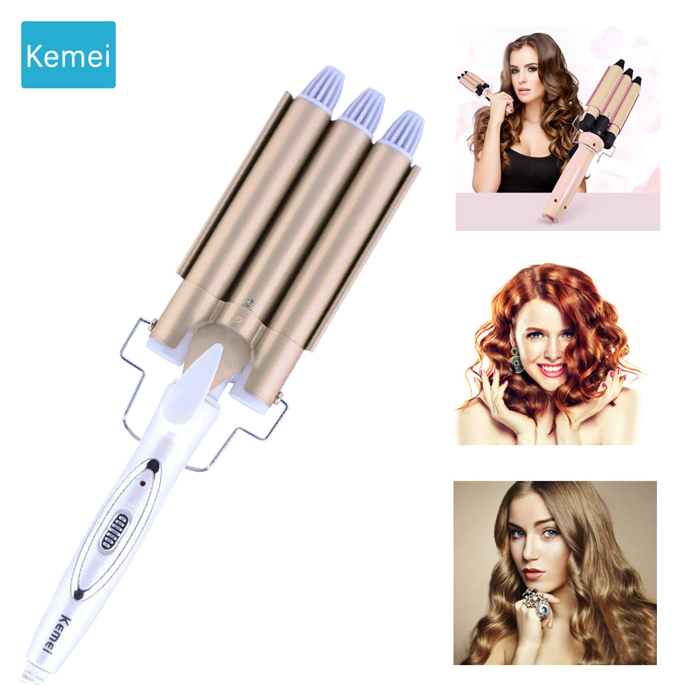 Kemei Professional hair care & styling tools Curling hair curler Wave Hair styler curling irons Hair crimper krultang iron 1