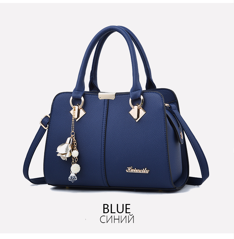 Designer Brand Bags Ladies Leather Tote Bag 2020 Luxury Ladies Handbag Wallet Fashion Shoulder Bag 7
