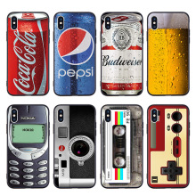2019 Soft TPU Case for iPhone 7 8 Plus X 6 6S Beer Gameboy Phone Battery Clear Silicone Cover