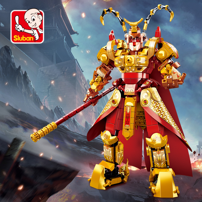sluban 615Pcs Super Heroes Ninja city Monkey King Building Block Figures Toys For Children Kids Toys Christmas birthday Gifts image