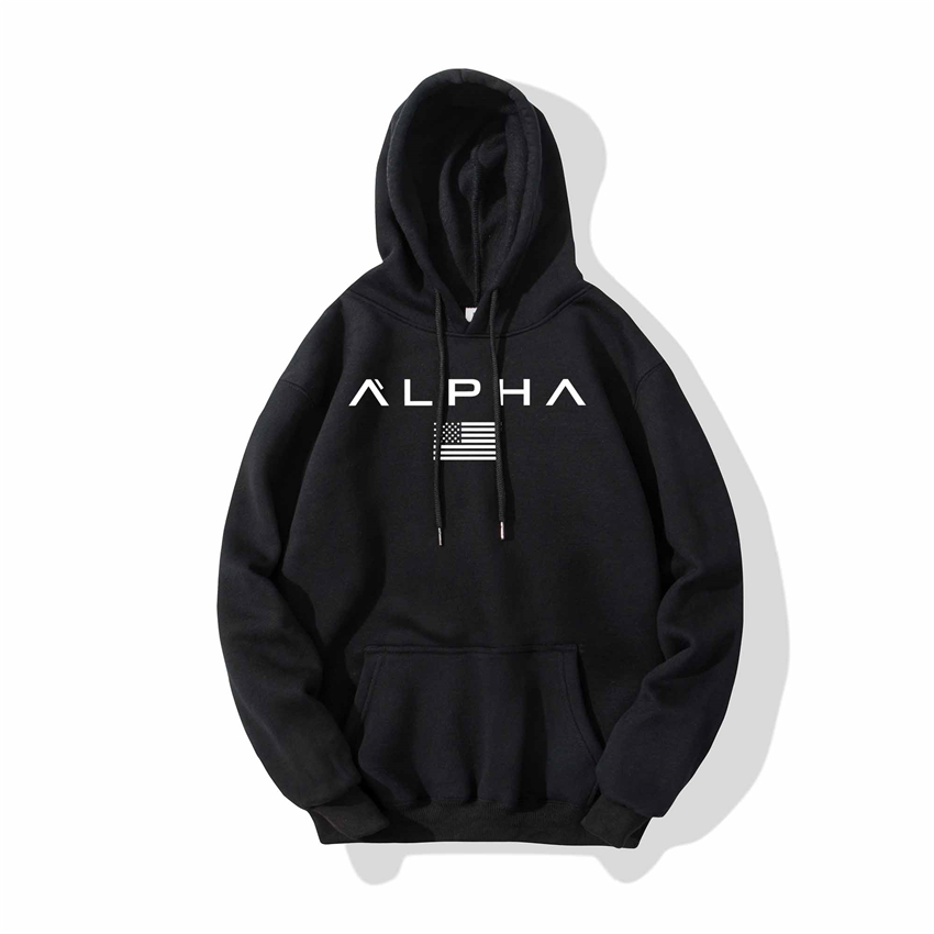 2020 Newest Fashion Men Hoodies Alpha Printed Hoodies Men/Women Casual Sweatshirt Pullover Spring Autumn Hoodies Men Sportswear