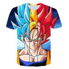 Summer Boutique 3D Printing Japanese Anime Goku Boy's T-shirt Fashion Casual Short Sleeve Children's Sports Undershirt Kids Top