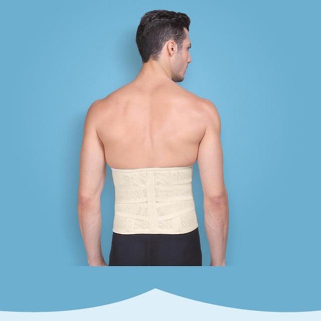 Popfeel Men's Belly Tummy Abdomen Waist Slimming Shaper Wrapper Girdle Belt Breathable Slimming Waist Trimmer Belt 3