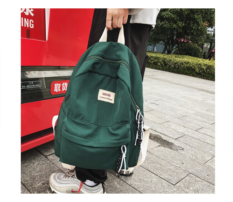 Waterproof Nylon Backpack School Bags For Teenagers Leisure Women Backpack Letter Printed Fashion Bag Travel Backpacks