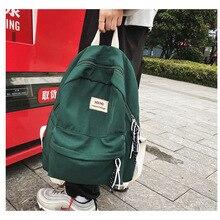 Waterproof Nylon Backpack School Bags for Teenagers Leisure Women