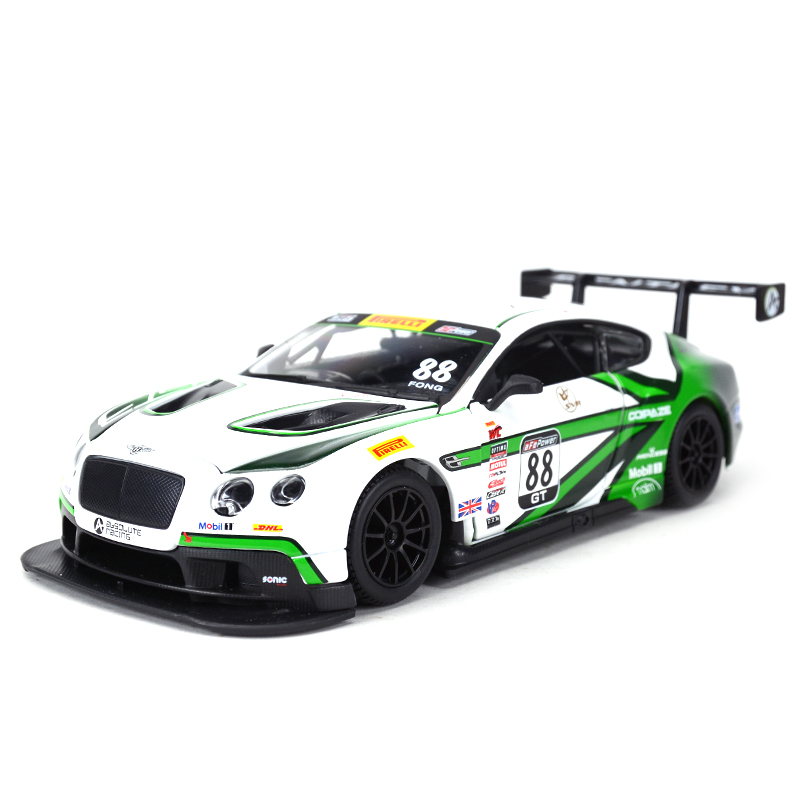 Bburago 1:24 Bentley Continental GT3 #88 Sports Car Static Simulation Diecast Alloy Model Car