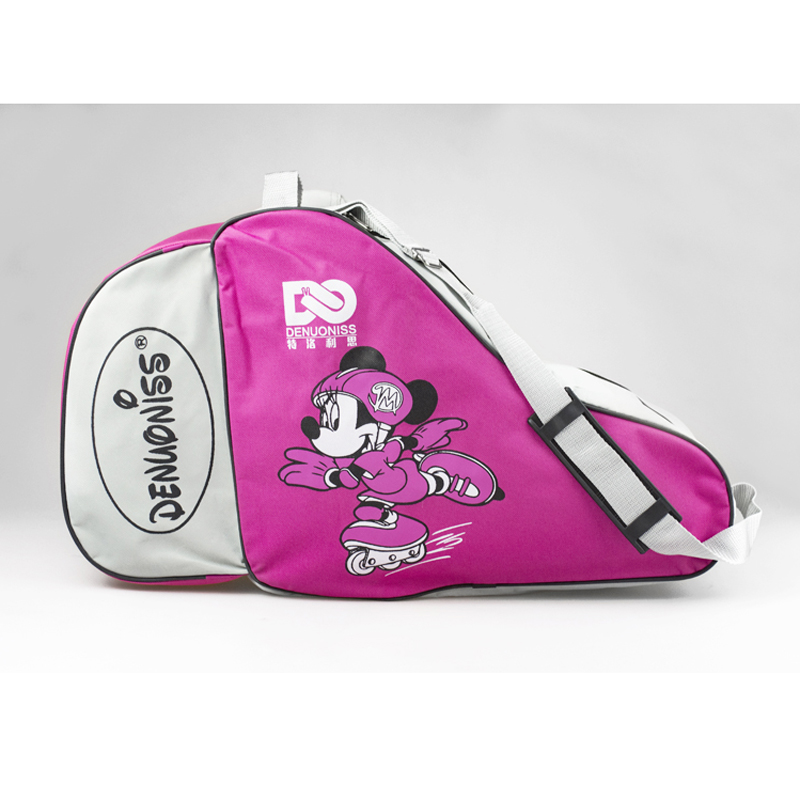 NEW Cute Cartoon Roller Skate Bag Portable Oxford Carry Bag Shoulder Bag Big Capacity Gift For Kids Adult 55x22x33cm