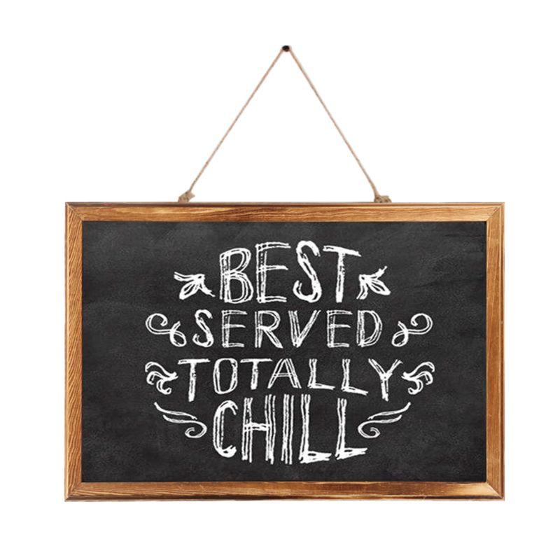 Rectangle Hanging Wooden Message Blackboard Chalkboard Wordpad Sign Kids Board For Restaurant, Bar, Office, home 3