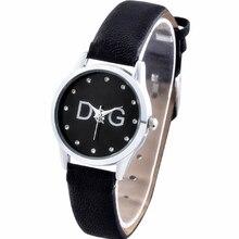 Reloj mujer новый люкс бренд DQG часы для женщин простой маленький циферблат кварцевые часы повседневный кожа женские часы подарок Zegarek