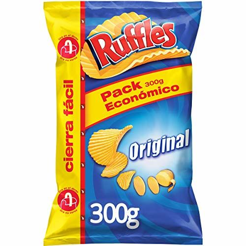 Ruffles Original Wavy Fries With Sal Container 300 Gluten G