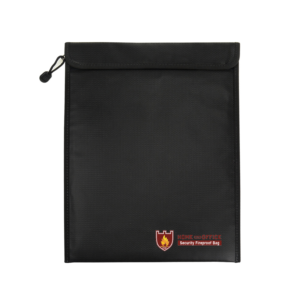 Double-sided Fireproof File Bag 38*28cm Zipper High Temperature Resistant Pure Color High Quality Liquid Silica Gel File Bags