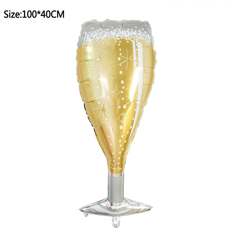 1pcs Foil Champagne Bottle/Beer Cup/Birthday Cake Balloons For Wedding Decorations 19