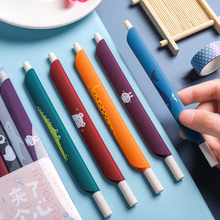 1PCS 0.5mm 3 in 1 Multifunction Retro Color Gel Pen Ruler Pen Bookmark pen Office School Writing Supplies Student Stationery