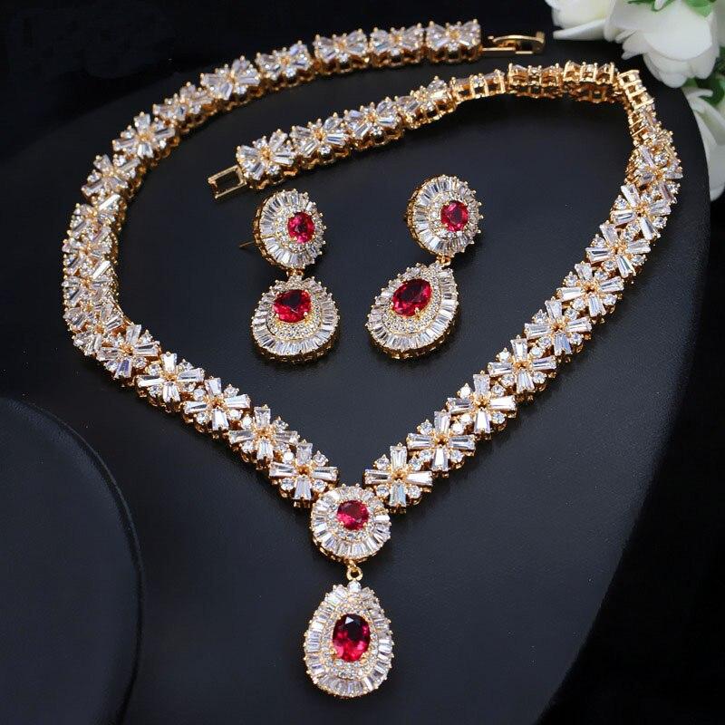 de jóias com pedra cristal vermelho j060