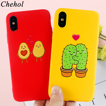 Funny Love Phone Cases for IPhone 6s 7 8 11 Plus Pro X XS MAX XR Case Avocado Cactus Soft Silicone Fitted Back Cover Accessories