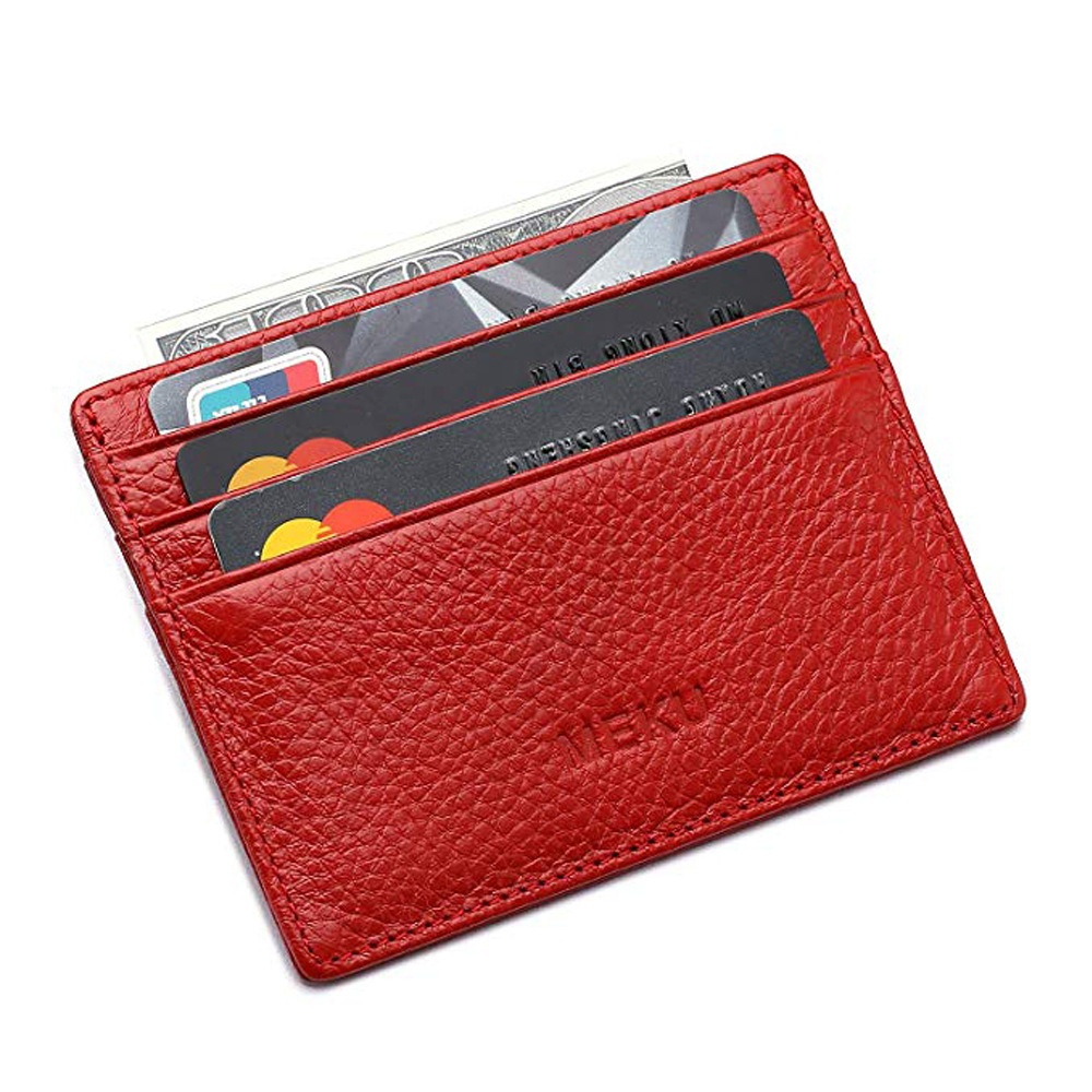 Simple Multi Card Bit Card Holder Carry-on Carriable Wallet Pu Hide Substance Bank Card Holder Multi-Bit Wallet