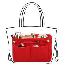High Quality Thicken Large Capacity Cosmetic Storage Bag Felt Travel Insert Organizer Handbag Purse Makeup For Women Female