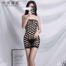Nieuwe Kant Off Shoulder Visnet Bodysuit Vrouwen Sex Kleding Perspectief Open Kruis Body Kousen Topless Mesh Sexy Lingerie