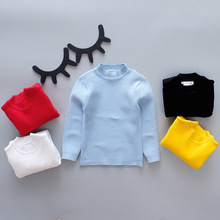 Autumn winter baby Sweaters warm long sleeve kids clothing tops thick casual solid toddler clothes for 0-6Y children costume children autumn and winter warm clothes boys and girls thick cashmere sweaters