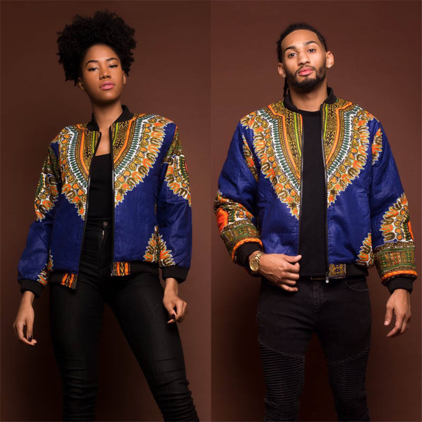 African Men Clothes 2020 Fashion Dashiki Print Coat Full Sleeve Bazin Party Women African Dress Hip Hop Ladies Clothing S-XL