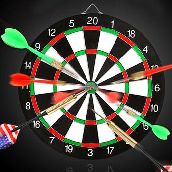1 Pc 12/15/17 Inch Dartboard Double Sided Hanging Dart Bulleye Target Game Board Target Dart Accessories Safety Kids Adults Toys