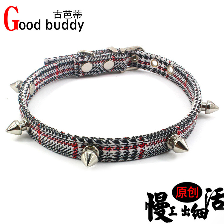 Punk Style Men's Spike Dog Neck Ring Five-pointed Star Cat Neck Lanyard Small And Medium-sized Dogs Neck Band Pet Supplies