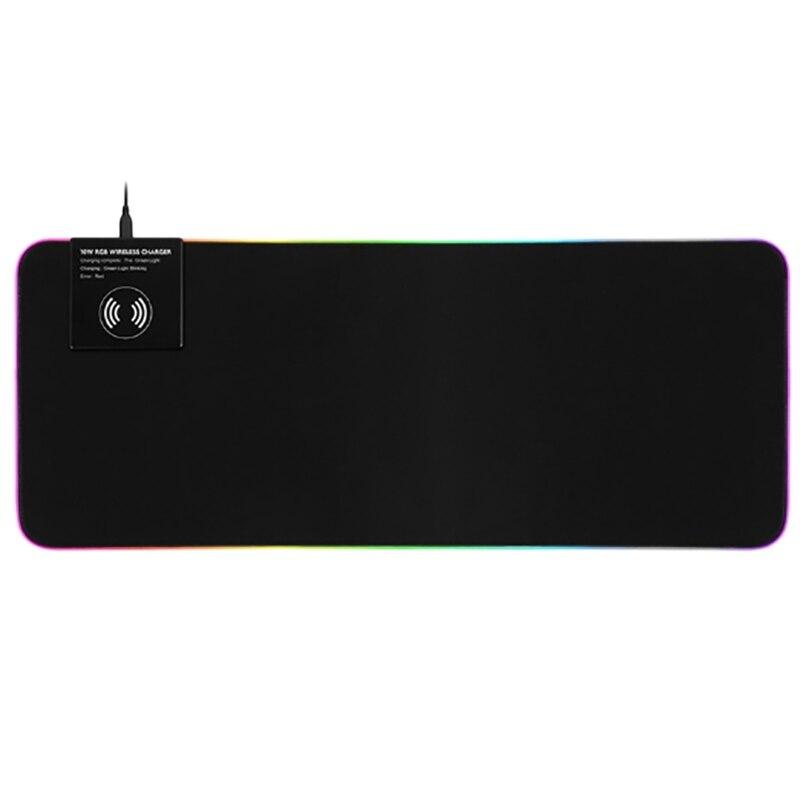RGB коврик для мыши USB Освещение функция беспроводной зарядки для ПК ноутбука наручные (800x300x4 мм)