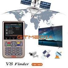 وصل حديثًا جهاز مكتشف للأقمار الصناعية طراز GTMEDIA V8 من فريسات V8 جهاز استقبال للأقمار الصناعية FTA جهاز استقبال قمر صناعي بشاشة 3.5 بوصة جهاز بحث LCD للبحث عن القمر الصناعي