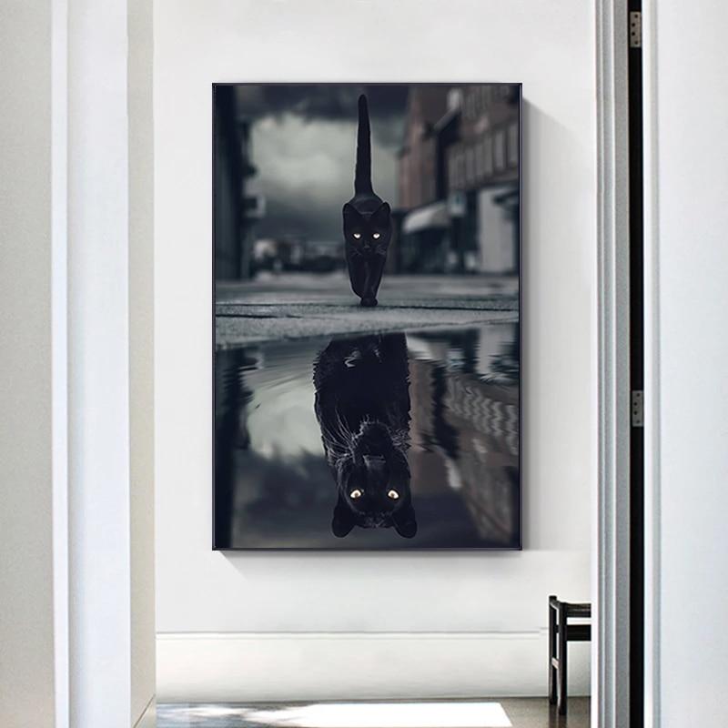 Kreative Tier Leinwand Malerei Kleine Katze Wie Leopard oder Tiger Lion Poster Drucke Wand Kunst Bilder für Wohnzimmer Hause decor