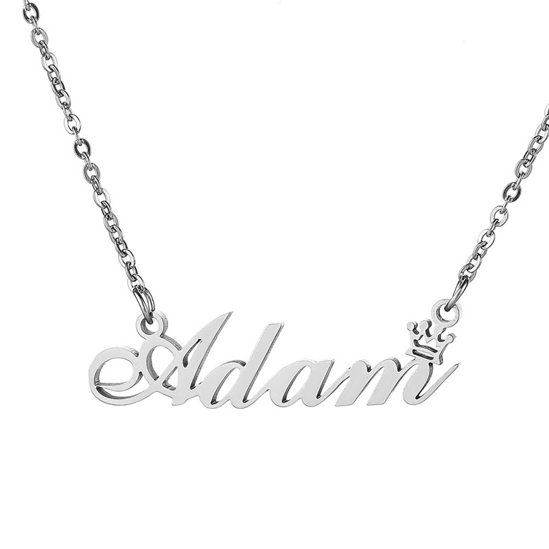 Sitaicery Customized Nameplate Necklace Fashion Stainless Steel Name Necklace Personalized Letter Gold Choker Pendant Gift 2019