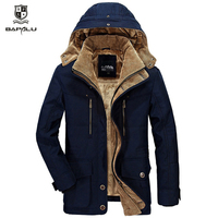 The new winter jacket 4XL 5XL 6XL Middle age Men coat Plus velvet thickening warm coat men's casual hooded Windbreaker jacket