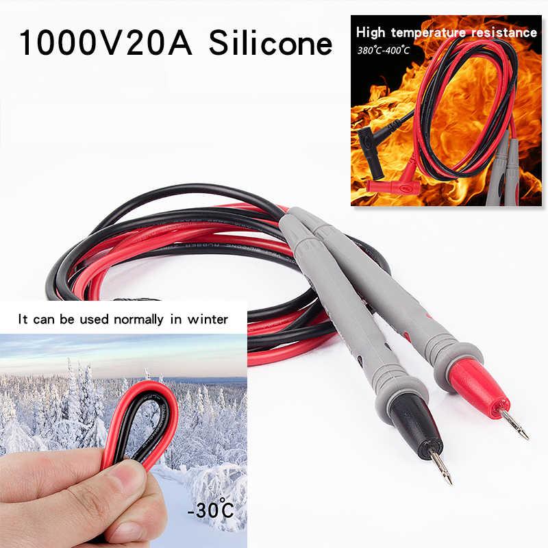 10 Pair Silicone Universale Multimeter Probe Puntali Per Multimetro Digitale Antenne Multimetro Cavo di Filo Punta Della Penna 1000V 20A