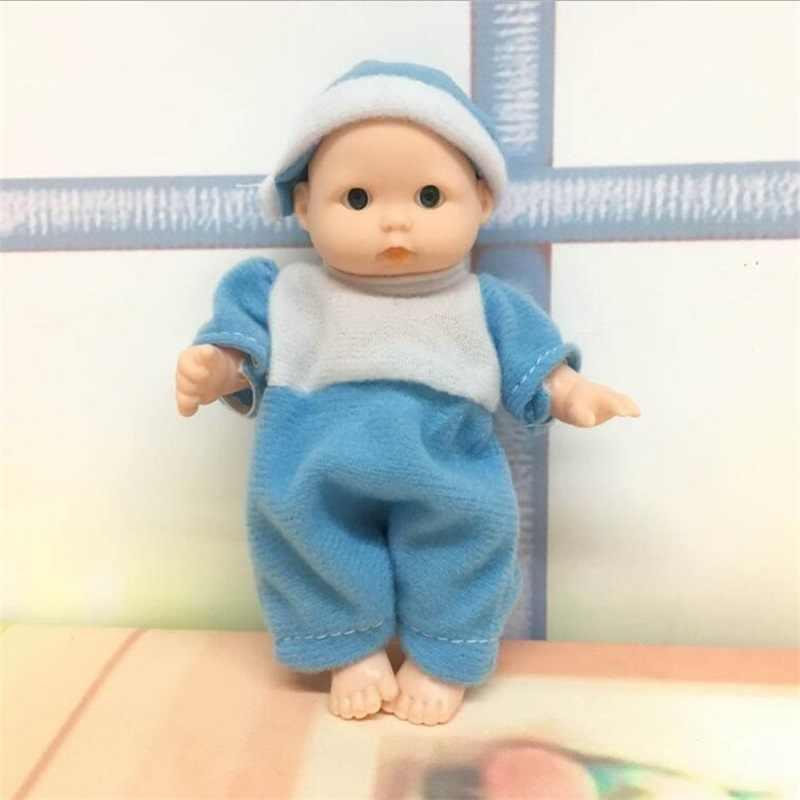 12.5CM מיני תינוק בובת reborn פלסטיק בובת חבר למשחק צעצועי להעמיד פנים צעצועים חינוכיים תינוקות כמו בחיים בובות חג המולד יום הולדת מתנות