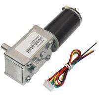 CHW GW4058 3162 DC 24V Gear Motor 28/74/222rpm Worm Reduction Gear Encoder Motor For Intelligent Robot Durable