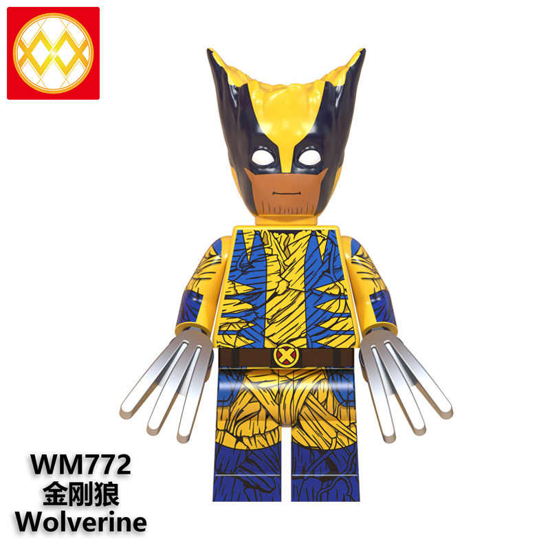 Trasporto Libero WM6070 Treeman Wolverine Costume Bastman Bucky Deadpool Thanos Capitan America Hulk Thor Building Blocks Giocattolo Per Bambini