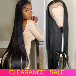 180 Density 28 30 Inch Straight Lace Front Wig Peruvian Glueless Lace Front Human Hair Wigs HD Transparent Lace Frontal Wigs
