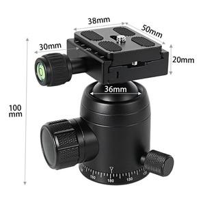 Image 5 - BGNing 360 Degree Panorama Ball Head Tripod Camera Mount Stand  Phone Holder Clip XJ 8 Flashlight Microphone With Spirit Level