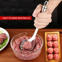Non-Stick Creative Meatball Maker Stainless Steel Kitchen Meat Ball Mold Spoon Gadget Tools
