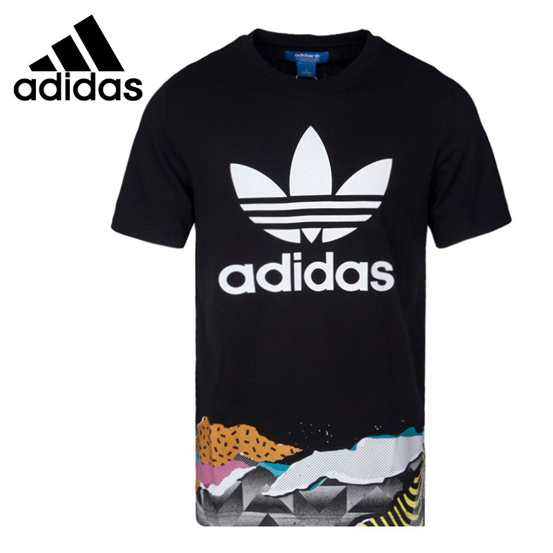Original New Arrival  Adidas Originals T-SHIRTS 2 LA L Men's T-shirts short sleeve Sportswear