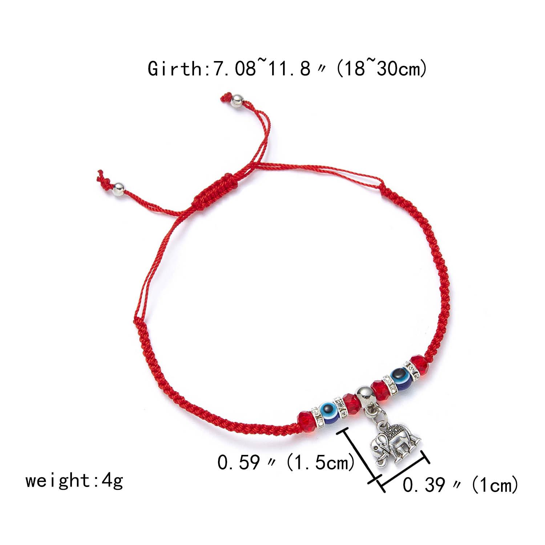 9 стилей плетеная красная нить на удачу Хамса браслет с подвесками на руку синий бисер, от сглаза браслет мода дружбы ювелирные изделия для женщин мужчин - Окраска металла: elephant