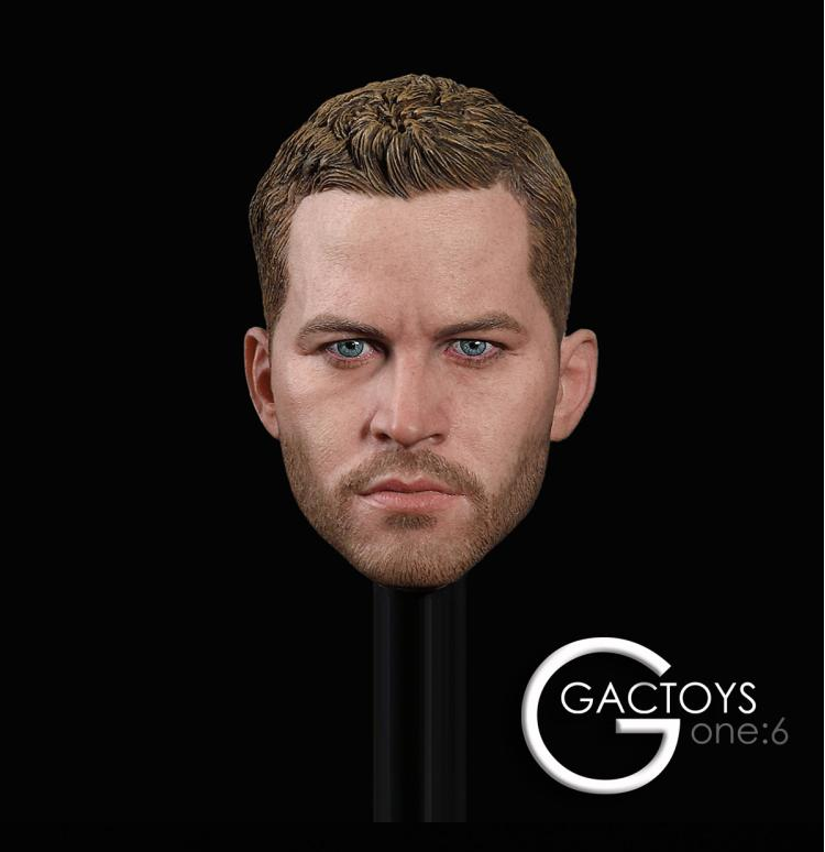 "1/6 Male Head Paul Walker For Phicen Hot Toys Hot Toys 12"" Male Figure"