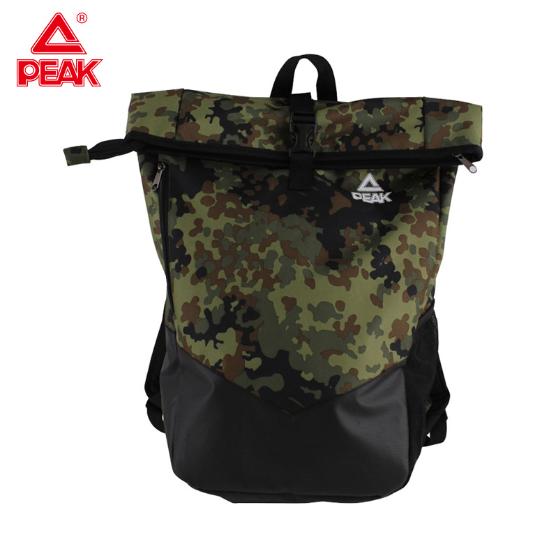 PEAK Gym Bag Big Capacity Sports Backpack Unisex Mountaineering School Sport Bag Indoor And Outdoor Camouflage Backpack BW18212