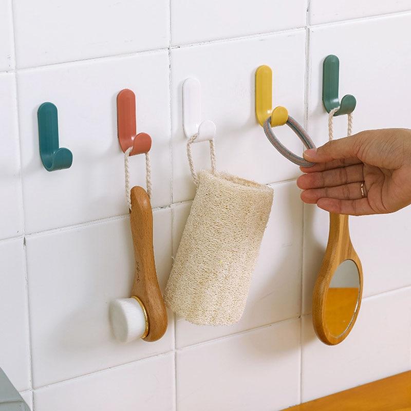 4Pcs/set Strong Self Adhesive Door Wall Hangers Towel Mop Handbag Holder Hooks For Hanging Accessories JJJSN11548
